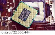 Купить «Современный процессор и материнская плата», видеоролик № 22550444, снято 17 апреля 2015 г. (c) Андрей Армягов / Фотобанк Лори