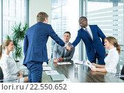 Купить «Handshake», фото № 22550652, снято 24 октября 2015 г. (c) Raev Denis / Фотобанк Лори