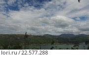 Купить «view to lake or river from land hills», видеоролик № 22577288, снято 16 февраля 2016 г. (c) Syda Productions / Фотобанк Лори