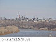 Купить «Уфимские нефтеперерабатывающие заводы», фото № 22578388, снято 11 апреля 2016 г. (c) Сергей Тагиров / Фотобанк Лори