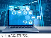 Купить «Composite image of a large screen of a computer», фото № 22578732, снято 17 июня 2019 г. (c) Wavebreak Media / Фотобанк Лори