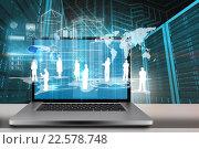 Купить «Composite image of a large screen of a computer», фото № 22578748, снято 22 мая 2019 г. (c) Wavebreak Media / Фотобанк Лори