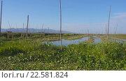 Купить «Плавающие Сады на озере Инле, Мьянма (Бирма)», видеоролик № 22581824, снято 11 апреля 2016 г. (c) Михаил Коханчиков / Фотобанк Лори