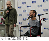 Купить «Ник Вуйчич, мотивационный оратор, в Москве», фото № 22583812, снято 13 апреля 2016 г. (c) Юлия Руденко / Фотобанк Лори