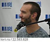 Купить «Ник Вуйчич, мотивационный оратор, в Москве», фото № 22583828, снято 13 апреля 2016 г. (c) Юлия Руденко / Фотобанк Лори