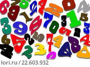 Купить «Цифры разных шрифтов на белом фоне», иллюстрация № 22603932 (c) Сергеев Валерий / Фотобанк Лори