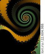 Купить «Декоративная фрактальная спираль в желто- залёных тонах», иллюстрация № 22604988 (c) Astronira / Фотобанк Лори