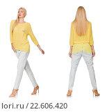 Купить «Composite photo of woman in various poses», фото № 22606420, снято 1 сентября 2014 г. (c) Elnur / Фотобанк Лори