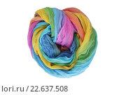 Радужный летний шарф. Стоковое фото, фотограф Анастасия Кононенко / Фотобанк Лори