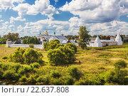 Купить «Покровский женский монастырь, Суздаль, вид сверху», фото № 22637808, снято 19 августа 2013 г. (c) Наталья Волкова / Фотобанк Лори