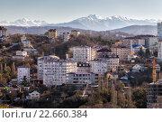 Купить «Cityscape Sochi. Russia», фото № 22660384, снято 9 февраля 2016 г. (c) Сергей Лаврентьев / Фотобанк Лори