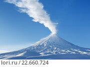 Камчатский край: вулкан Ключевская сопка, фото № 22660724, снято 5 января 2016 г. (c) А. А. Пирагис / Фотобанк Лори