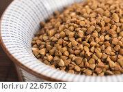 Купить «buckwheat groats», фото № 22675072, снято 23 октября 2019 г. (c) PantherMedia / Фотобанк Лори