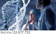 Купить «DNA molecule research», фото № 22677732, снято 16 ноября 2018 г. (c) Sergey Nivens / Фотобанк Лори