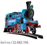 Купить «Векторный мультяшный поезд», иллюстрация № 22682156 (c) Александр Володин / Фотобанк Лори