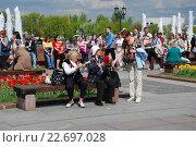 Купить «Ветераны Великой Отечественной войны в Парке Победы принимают поздравления в День Победы 9 Мая 2009 года», эксклюзивное фото № 22697028, снято 9 мая 2009 г. (c) lana1501 / Фотобанк Лори