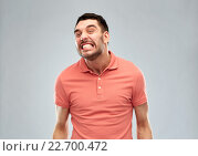 Купить «angry man over gray background», фото № 22700472, снято 15 января 2016 г. (c) Syda Productions / Фотобанк Лори
