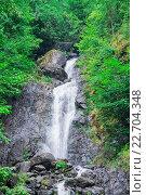 Молочный  водопад, Абхазия. Стоковое фото, фотограф Дмитрий Панкрашин / Фотобанк Лори