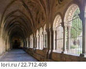 Купить «gallery of inner courtyard of Tarragona Cathedral», фото № 22712408, снято 16 января 2019 г. (c) Яков Филимонов / Фотобанк Лори