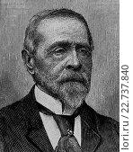 Moritz edler von mayfeld, 1817-1904, member of frankfurt parliament, wood engraving, about 1880. Стоковое фото, фотограф Bildagentur-online \ UIG / age Fotostock / Фотобанк Лори