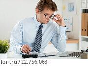 Бизнесмен на рабочем месте. Стоковое фото, фотограф Людмила Дутко / Фотобанк Лори