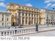 Моховая улица в Москве (2016 год). Редакционное фото, фотограф Depth / Фотобанк Лори
