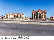 Купить «Здание культурного центра имени Гейдара Алиева в городе Куба (Губа). Азербайджан», фото № 22766092, снято 22 сентября 2015 г. (c) Евгений Ткачёв / Фотобанк Лори