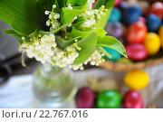 Купить «Натюрморт с пасхальными яйцами», фото № 22767016, снято 30 апреля 2016 г. (c) Иван Черненко / Фотобанк Лори