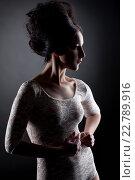 Купить «Девушка в кружевном боди», фото № 22789916, снято 23 февраля 2014 г. (c) Гурьянов Андрей / Фотобанк Лори