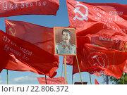 Купить «Портрет Сталина и красные флаги у Вечного огня в Нижегородском Кремле», фото № 22806372, снято 9 мая 2016 г. (c) Андрей Забродин / Фотобанк Лори