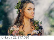Elf woman in a magical forest. Стоковое фото, фотограф Andrejs Pidjass / Фотобанк Лори