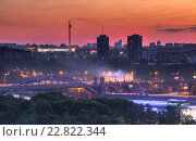 Закат в Москве (2016 год). Стоковое фото, фотограф Константин Ламин / Фотобанк Лори