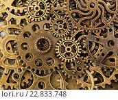 Старые шестеренки, фон. Стоковое фото, фотограф Discovod / Фотобанк Лори