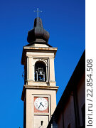 casorate sempione old  tower bell sunny day. Стоковое фото, фотограф Zoonar/LKPRO / easy Fotostock / Фотобанк Лори