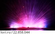 Купить «Тамбов. Ночной вид на фонтаны на реке Цне», эксклюзивный видеоролик № 22858044, снято 8 мая 2016 г. (c) Литвяк Игорь / Фотобанк Лори