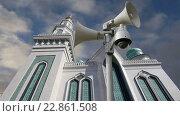 Купить «Главная мечеть в Москве», видеоролик № 22861508, снято 15 мая 2016 г. (c) Владимир Журавлев / Фотобанк Лори