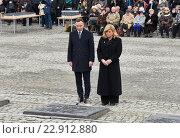 Купить «Auschwitz, Poland, commemorating the 71st anniversary of the liberation of Auschwitz», фото № 22912880, снято 26 января 2016 г. (c) Caro Photoagency / Фотобанк Лори