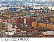 Купить «Вид на город Мурманск», фото № 22916600, снято 7 апреля 2016 г. (c) Ирина Здаронок / Фотобанк Лори
