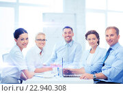 Купить «business team having meeting in office», фото № 22940308, снято 9 июня 2013 г. (c) Syda Productions / Фотобанк Лори