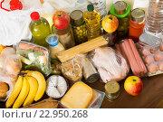 Купить «food purchases from supermarket», фото № 22950268, снято 17 июля 2018 г. (c) Яков Филимонов / Фотобанк Лори