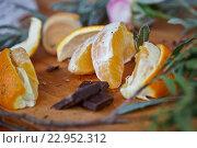 Шоколадно-апельсиновое настроение. Стоковое фото, фотограф Екатерина Давыдова / Фотобанк Лори