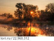 Купить «Тамбов. Рассвет на реке Цне», эксклюзивное фото № 22960312, снято 9 мая 2016 г. (c) Литвяк Игорь / Фотобанк Лори