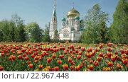 Купить «Успенский собор в Омске», видеоролик № 22967448, снято 18 мая 2016 г. (c) Юлия Машкова / Фотобанк Лори