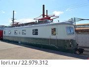 Купить «Пассажирский электровоз Шкода ЧС 1-041 в железнодорожном музее в бывшем Варшавском вокзале в Санкт-Петербурга», фото № 22979312, снято 12 мая 2016 г. (c) Максим Мицун / Фотобанк Лори
