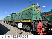 Купить «Грузопассажирский тепловоз ТЭ1-20-135 в железнодорожном музее в бывшем Варшавском вокзале в Санкт-Петербурга», фото № 22979364, снято 12 мая 2016 г. (c) Максим Мицун / Фотобанк Лори