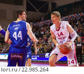 Купить «Баскетбол, Anton Pushkov с мячом», фото № 22985264, снято 9 ноября 2013 г. (c) Pavel Shchegolev / Фотобанк Лори