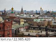 Купить «Вид со смотровой в центральном детском мире в Москве», фото № 22985420, снято 1 мая 2016 г. (c) Олег Жуков / Фотобанк Лори