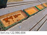 Купить «РЖД. Пустые вагоны», фото № 22986604, снято 24 мая 2016 г. (c) Зобков Георгий / Фотобанк Лори