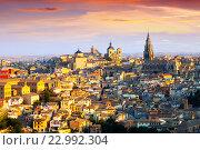 Купить «View of Toledo in sunny morning», фото № 22992304, снято 23 августа 2013 г. (c) Яков Филимонов / Фотобанк Лори
