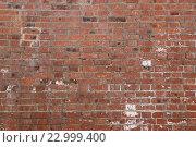 Кирпичная стена из красного кирпича. Стоковое фото, фотограф Евгений Яковлев / Фотобанк Лори